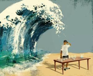 ola-agua-mesa-vasos